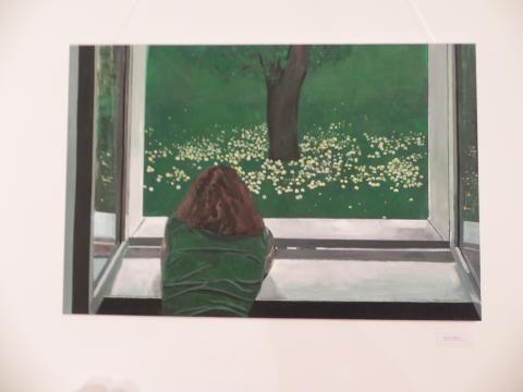 'Window' - obraz Karoliny M. Kowalskiej (fot. Krzysztof Krzak)