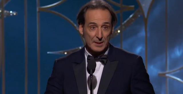 Le Français Alexandre Desplat, lors de la cérémonie des Golden Globes 2018 (Source : NBC)