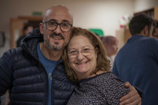 Sergi González y Rosario Pardo
