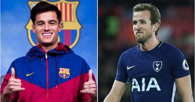 Spurs striker Kane has complimented Coutinho's professionalism during the transfer saga. Credit: givemesport.com