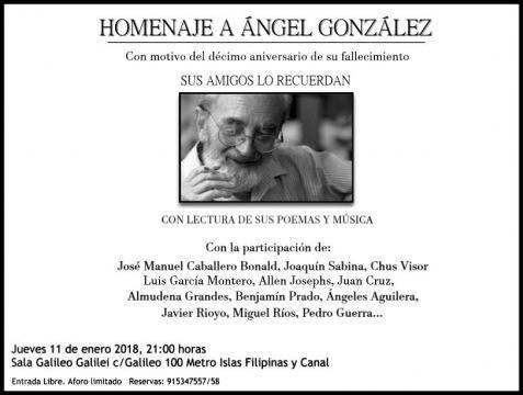 Homenaje de sus amigos al poeta Ángel González