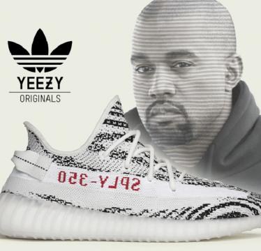 Kanye West et la Adidas YEEZY Boost 350 V2 Blue Tint / source : https://www.behance.net