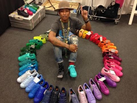 Pharrell Williams fait la promotion sur Twitter de l'une de ses collaborations à succès, avec Adidas Originals / source : https://twitter.com