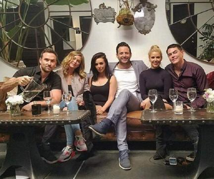 Scheana Marie and Robert Parks-Valletta pose with their co-stars. [Photo via Instagram]