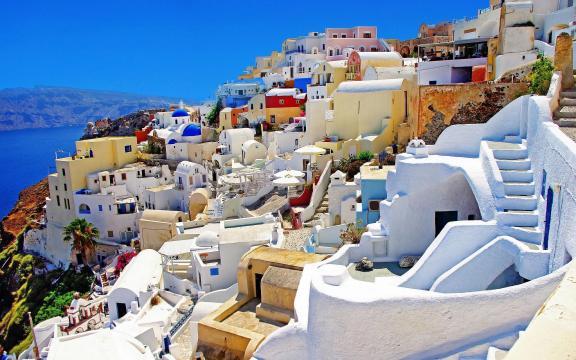 Santorini é um paraíso da Grécia