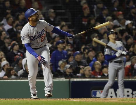 Matt Kemp tuvo un HR solitario en la 2da entrada. MLB.com.