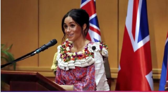 Meghan Markle delivers powerful speech to college students in Fiji on royal tour. - [Access / YouTube screencap]