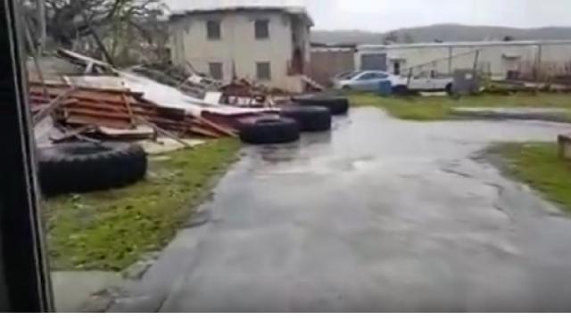 Typhoon Yutu Destroys Saipan Gym [Image courtesy – Jody Westby-Hanalei YouTube video]