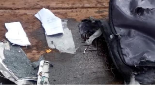 Parts of the aircraft from crash of Lion Air boeing 737 plane [Image courtesy – Guardian News YouTube video]