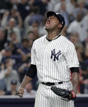 Luis Severino tuvo una apertura enorme aunque durara 4 entradas. MLB.com