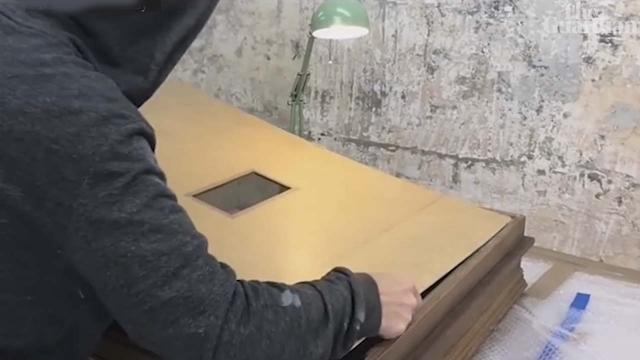 Banksy posted a video showig how he installed a shredder in