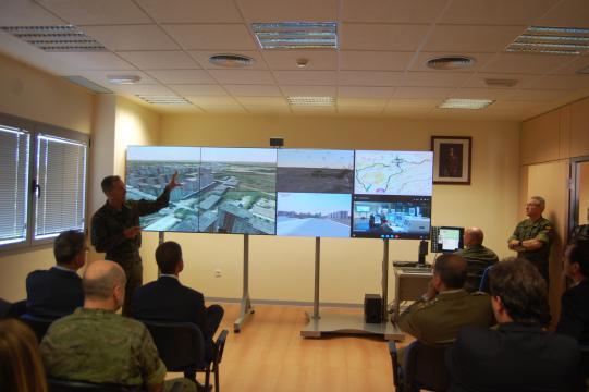 Demostración de una operación táctica realizada en el simulador realizada a la vez entre Almagro y Colmenar Viejo.