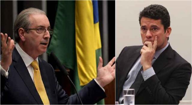 Em Curitiba, Cunha prestou depoimento a Moro. Juiz contestou advogado de defesa do ex-parlamentar - em.com.br