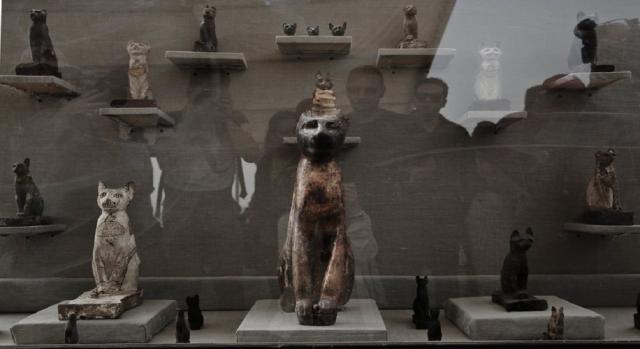 Mais de 100 estátuas de madeira douradas e uma de bronze da deusa Bastet foram encontradas.