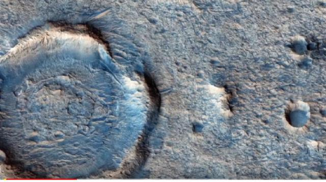 Topography of Oxia Planum – proposed ExoMars 2020 rover landing site. [Image source/SciNews YouTube video]