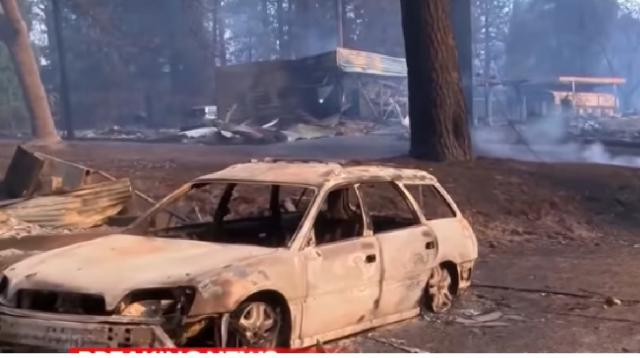 Wildfires Leaves Paradise, California Unrecognizable. [Image source/NBC Nightly News YouTube video]