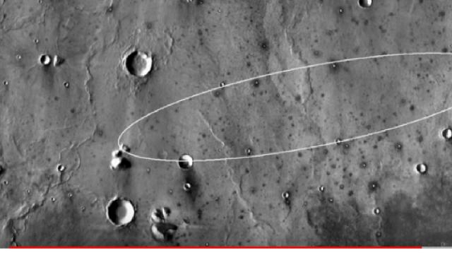 Elysium Planitia landing site for NASA's InSight mission to Mars. [Image source/SciNews YouTube video]