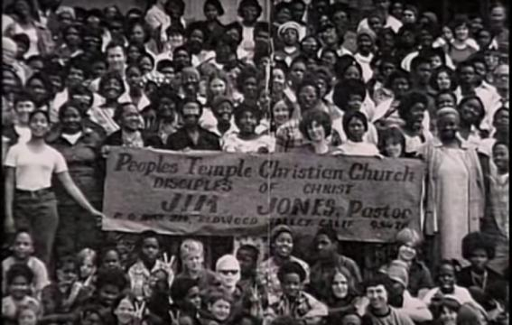 Member's of The People's Temple smile during happier times (Image credit: YouTube screen grab)