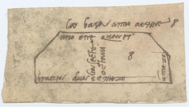 Bosquejo y anotaciones de Miguel Ángel para la construcción de la fachada de la basílica San Lorenzo en Florencia, Italia