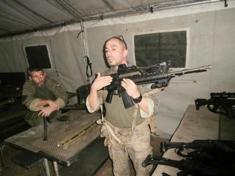 Exposición de material y armamento a disposición del Palma 47
