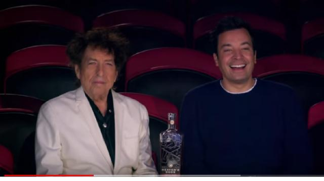 Jimmy Fallon takes Bob Dylan to the Circus. [Image source/The Tonight Show Starring Jimmy Fallon YouTube video]