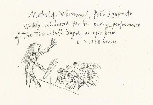Matilda es poetisa laureada en Gran Bretaña, su país de origen