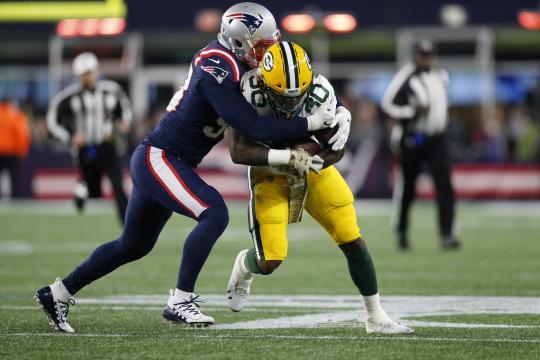 La defensiva de New England jugó un partido sólido. www. cheeseheadtv.com