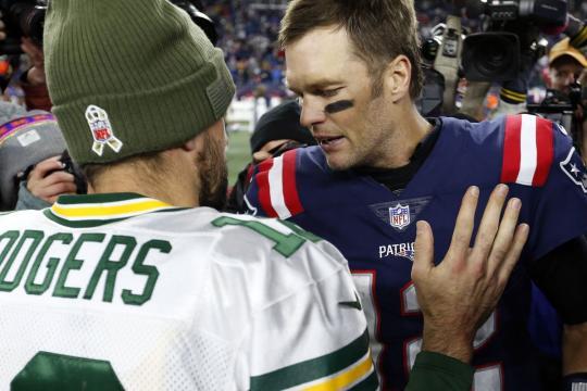 Rodgers es un gran QB pero no se sienta en la misma mesa que Brady. www.patspulpit.com
