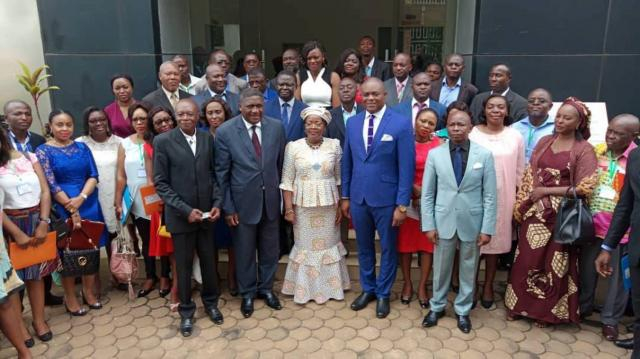 L'ensemble des invités au séminaire de renforcement ds capacités (c) Jean Claude Ntonde