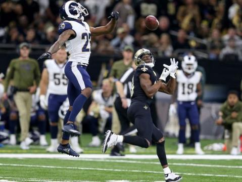 Michael Thomas tuvo más de 200 yardas por recepción. www.theadvertiser.com