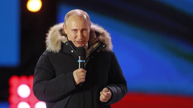 Putin tras ser reelecto presidente de Rusia