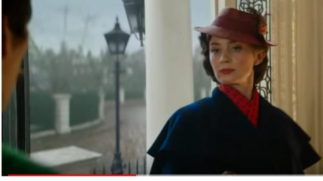Mary Poppins returns 2018 Latest Trailer - Emily Blunt & Lin-Manuel Miranda. [Image source/Disney UK YouTube video]