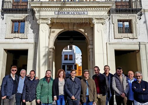 Los miembros del Consell Polític de la formación DV durante su reunión el pasado fin de semana
