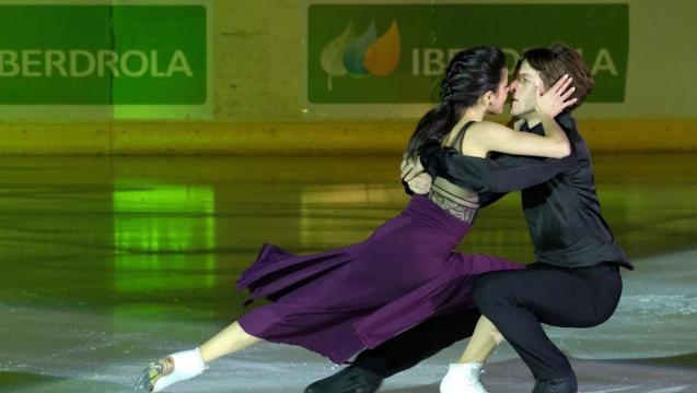 Sara Hurtado y Kirill Khaliavin en una de sus actuaciones en Logroño. (EFE)
