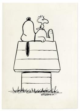 El emblemático Snoopy y su amigo Woodstock sueñan en un mundo conflictivo