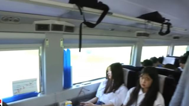 First 'Seoul-to-Pyongyang' train departs from Seoul Station. [Image source/ARIRANG NEWS YouTube video]