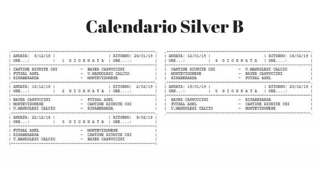 Calendario Serie C femminile girone Silver B
