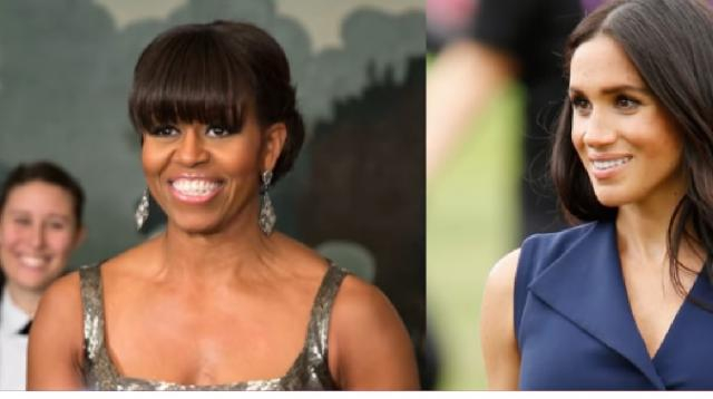 Meghan Markle & Michelle Obama Have A Secret Chat! [Image source/Access YouTube video]