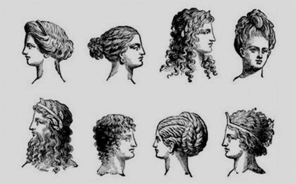 Diferentes modelos de peinados en la mujer de la antigua Roma
