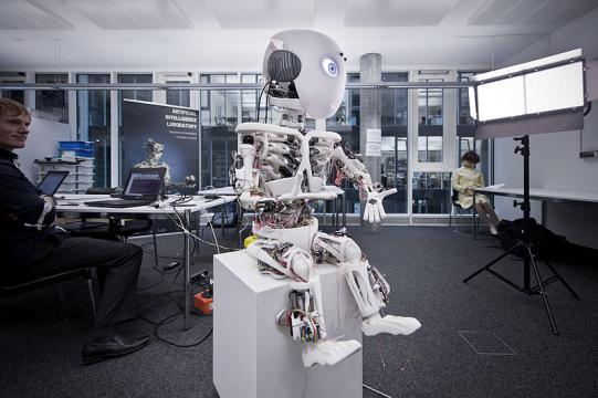 Robot Roboy, developed by Artificial- Intelligence Laboratory, University of Zurich (Image credit - Adrian Baer, Wikimedia Commons)