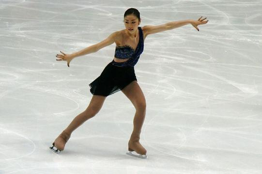 Kim Yu-Na at the World Figure Skating Championships (Image credit – Luu, Wikimedia Commons)
