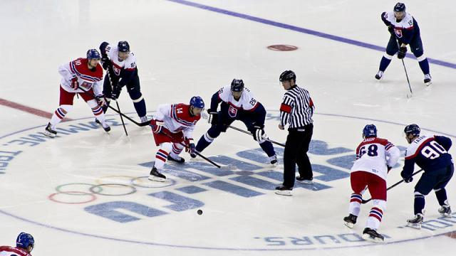 Men's ice hockey in Winter Olympics (Image credit – Pawel Maryanov, Wikimedia Commons)
