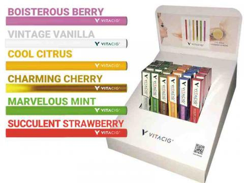 Vitacig- Distintos sabores y colores en los que viene el producto (Via: Vitacig.org)