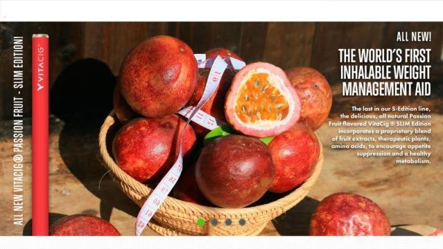 Vitacig S-Edición Slim inhalador (sin nicotina) fruta de la pasión (Via: Vitacig.org)