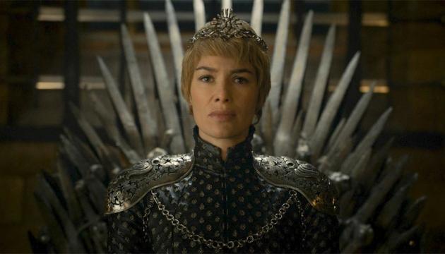 Cersei Lannister en el Trono de Hierro