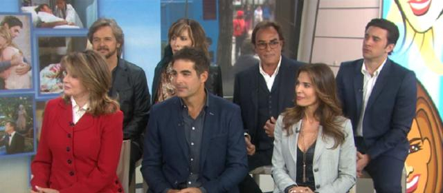 Days of our Lives cast. (Image via YouTube screengrab/NBC Today)