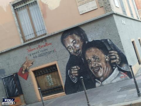 falcone e borsellino in C.so di Porta Ticinese Milano - YouReporter.it - youreporter.it
