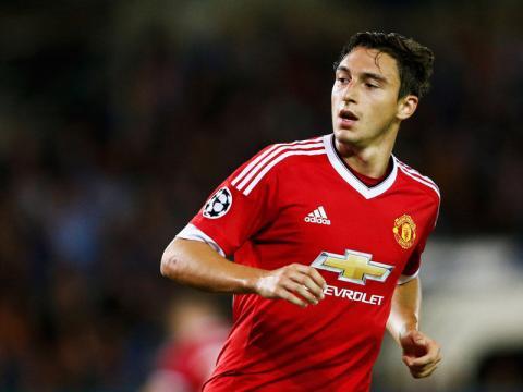 Matteo Darmian, giocatore del Manchester United, sarebbe nel mirino della Juventus