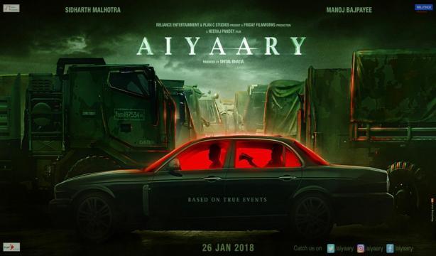 Aiyaary (2018) Hindi Movie Review, Trailer, Poster - (Image via Filmnstars)