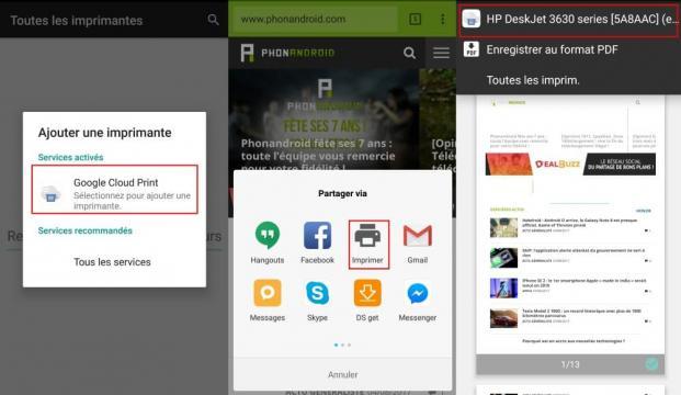 Comment imprimer facilement depuis votre smartphone ou tablette ... - phonandroid.com